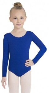 Capezio Girls' Team Basics Long Sleeve Leotard