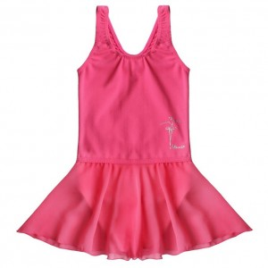 iEFiEL Girls Go Sport Shiny Dancer Ballet Dancing Tutu Skirt Dress Leotard Dancewear